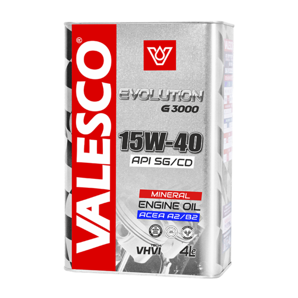 VALESCO EVOLUTION G3000 GASOLINE SAE 15W-40, API SG/CD